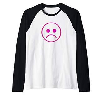 Sadboi Shirt - Sad Face Shirt - Multicolor Glitch Shirt Raglan Baseball Tee