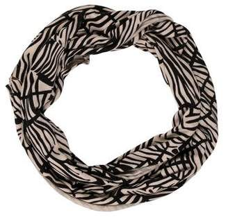 Alice + Olivia Patterned Wool Infinity Scarf