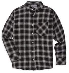 DL1961 DL Premium Denim Premium Denim Boy's Check Shirt - Black Plaid - Size 2-3