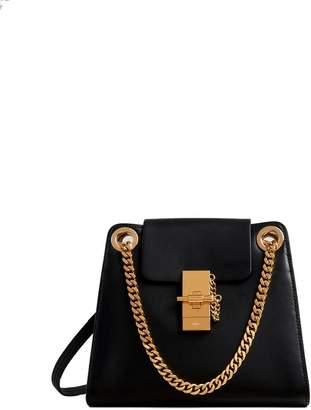 Chloé Annie Leather Shoulder Bag/chain Metal Strap