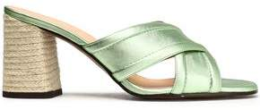 Castaner Metallic Leather Sandals