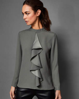 Ted Baker GLOWRIA Ruffle front blouse