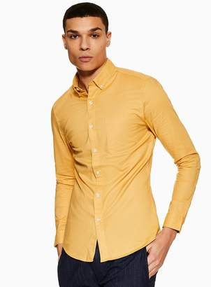 TopmanTopman Ochre Stretch Skinny Oxford Shirt