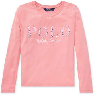 Polo Ralph Lauren Big Girls Cotton Graphic Long-Sleeve T-Shirt