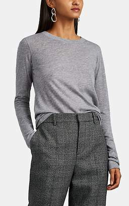 Barneys New York Women's Cashmere Jersey Long-Sleeve T-Shirt - Light Gray