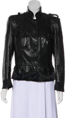Saint Laurent Structured Leather Jacket