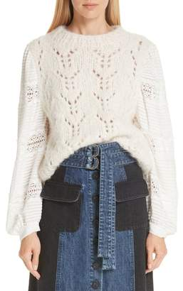 Sea Lace Sleeve Sweater