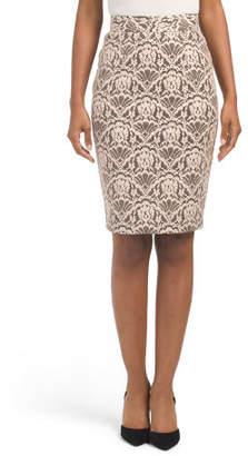 Petite Lace Pencil Skirt