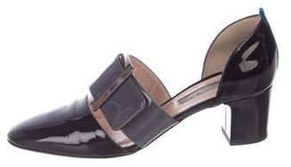 Sarah Jessica Parker Patent Leather Square-Toe Pumps