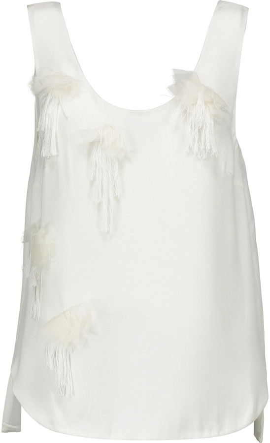 3.1 Phillip Lim3.1 Phillip Lim Embellished silk crepe de chine tank