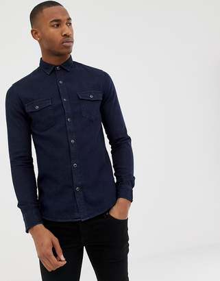 ONLY & SONS Slim Fit Denim Shirt