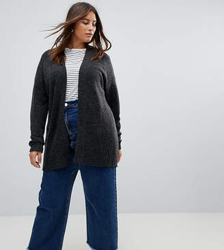 Asos Chunky Knit Cardigan In Wool Mix