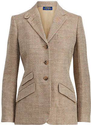 Polo Ralph Lauren Linen Herringbone Blazer $598 thestylecure.com