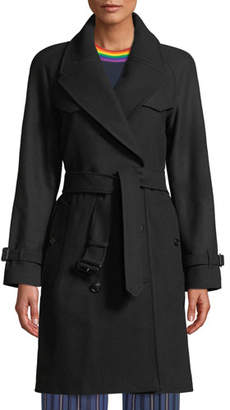 Burberry Cranston Wool-Blend Trench Coat