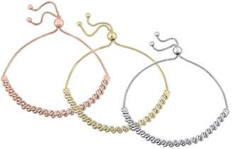 Rina Limor Fine Jewelry 18K Gold Over Silver 0.75 Ct. Tw. Diamond Bracelet Set