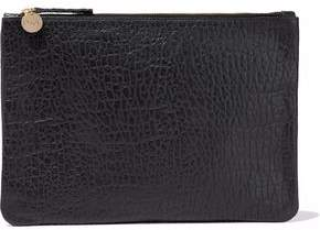 Clare Vivier Textured-Leather Clutch