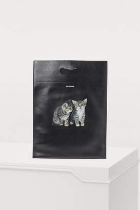 Balenciaga Shopper mini soft leather bag