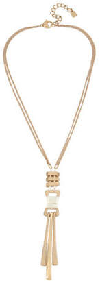 Robert Lee Morris SOHO Two-Tone Wire-Wrapped Y-Necklace
