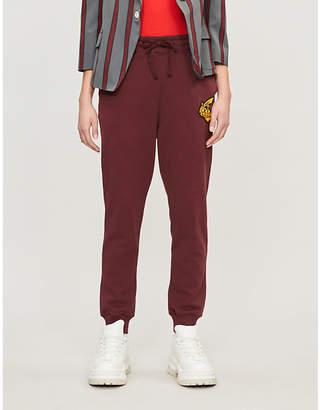 Vivienne Westwood Logo-embroidered cotton-jersey jogging bottoms