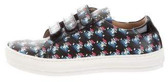 Salvatore Ferragamo Girls' Leather Penguin Print Sneakers