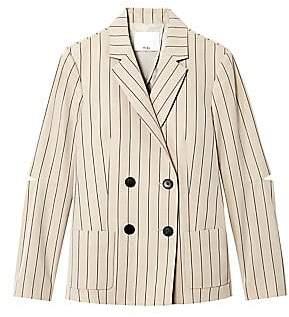 Tibi Women's Tropical Wool Striped Suit Blazer