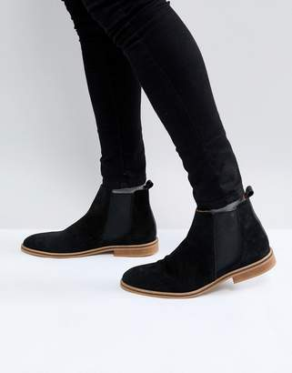 Good For Nothing Chelsea Boots In Black Suede