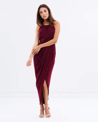 3489e871bc0 at THE ICONIC Shona Joy Core High-Neck Ruched Dress