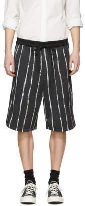 3.1 Phillip Lim Black Painted Stripe Shorts