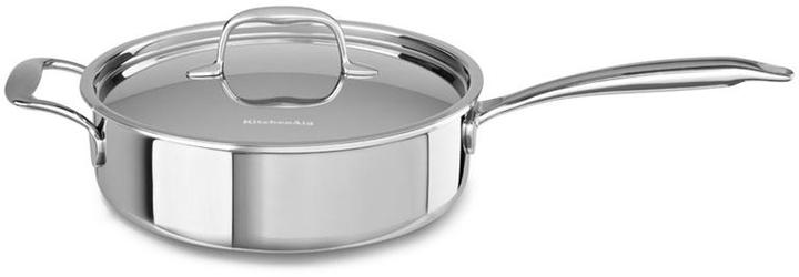 KitchenAid 3.5-qt. Stainless Steel Tri-Ply Saute Pan with Helper Handle and Lid