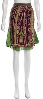 Christian Dior Printed Knee-Length Skirt