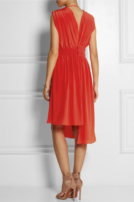 Vionnet Pleated silk-crepe dress