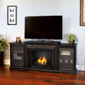 Frederick Real Flame Gel Fuel 72 TV Stand with Gel Fireplace