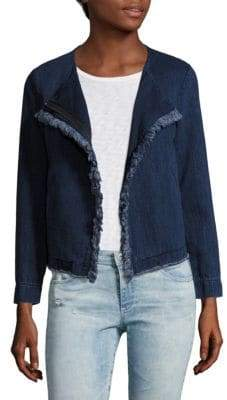 AG Jeans Delia Frayed Denim Jacket