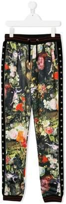 John Richmond Kids TEEN floral print track pants