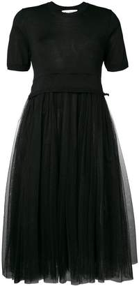 Comme des Garcons pleated tulle dress
