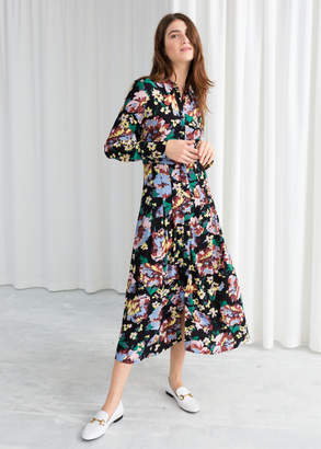 And other stories Printed Flared Shirt Dress