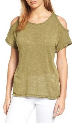 Women's Bobeau Cold Shoulder Slub Knit Tee $39 thestylecure.com