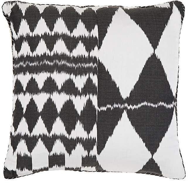 Ogaden Ikat Silk-Cotton Pillow