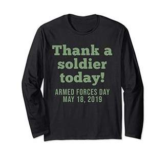 THANK A SOLDIER Tshirt Armed Forces Day Long Sleeve T-Shirt
