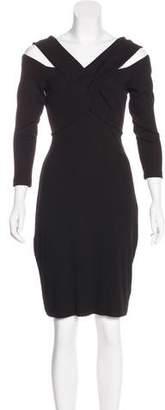 L'Agence Off-The-Shoulder Mini Dress