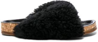 Chloé Shearling Fur Kerenn Sandals