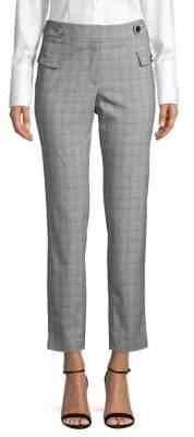 Calvin Klein Windowpane-Print Cropped Pants