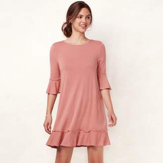 9dcdcedd4d5c8 Lauren Conrad Women s Ruffled T-Shirt Dress