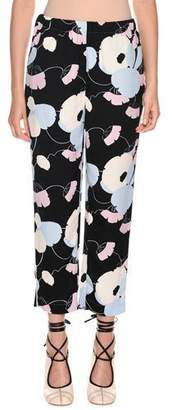 Marni Floral-Print Straight-Leg Pajama Silk Pant