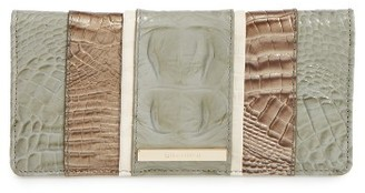 Women's Brahmin Tarama Ady Croc Embossed Leather Wallet - Green $135 thestylecure.com