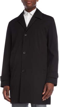 MICHAEL Michael Kors Black Single-Breasted Franklin Overcoat
