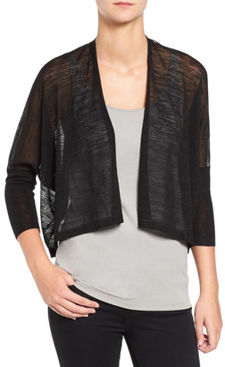 Eileen Fisher Sheer 3/4 Length Sleeve Cardigan $218 thestylecure.com