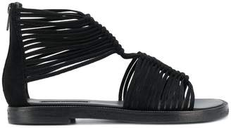 Ann Demeulemeester strappy back zip sandals