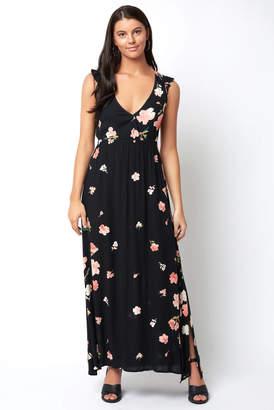 Billabong Scattered Floral Wind Wrap Dress