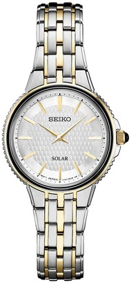 Seiko Women's Two Tone Stainless Steel Solar Watch - SUP394